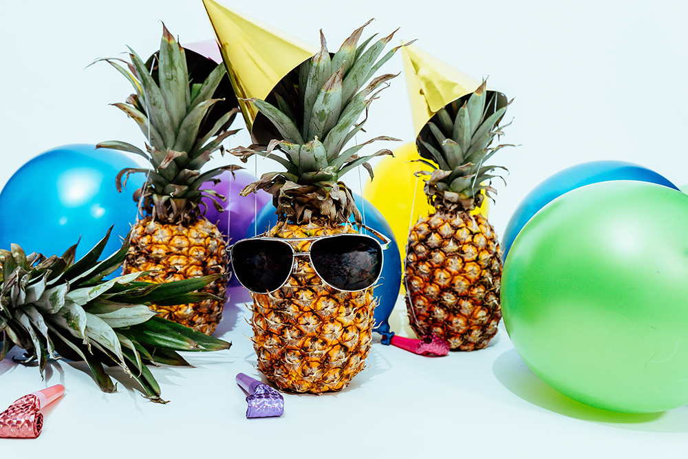 Spass mit Ananas